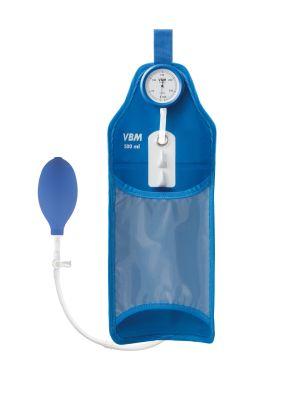 Drukinfusie Manchet, Drukzak 500 ml, pocket vorm met handballon, stopkraan en manometer, Reusable