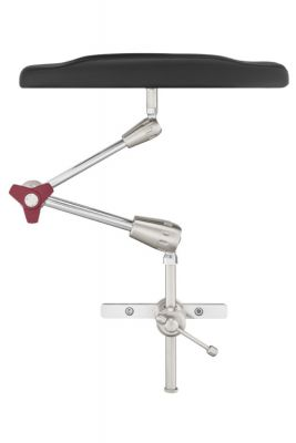Arm Support Vertical. Viscoelastic pad, articulated arm 560 mm, radial setting clamp Fisso