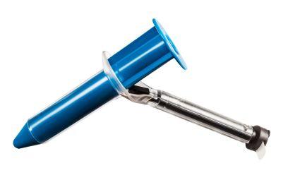 SELF-LED-LIGHT BLUE SCOPE - Chirurgische/onderzoeksmatige rechte proctoscoop. L = 79 mm. Ø 23 mm. Disposable.