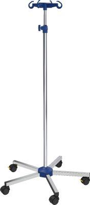 Infuuspaal Verpleegafdeling, verchroomd staal, handschroef verstelbaar 135-215 cm